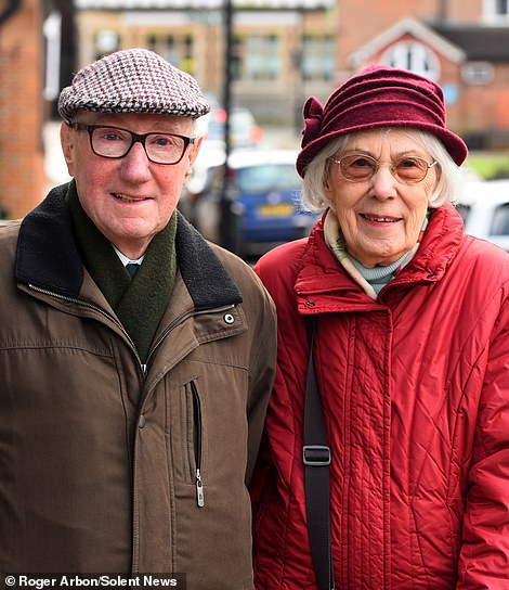 Haslemere residentsDan and Grace Grottick, who discovered the health centre was shutting for cleaning while trying to get a prescription