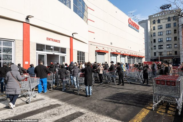 This morning, shoppers once again lined up at the supermarket as New York Gov. Andrew Cuomo warned that the city will be testing for community spread.