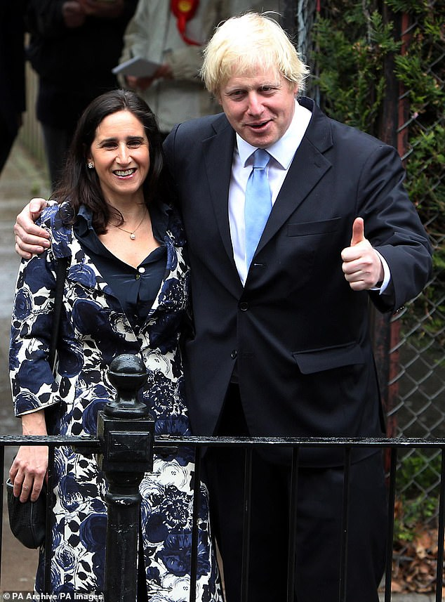 Marina, 55, pictured with her estranged husband Boris during the London Mayoral elections, is mourning the loss of her elderly mother, 88, after she died on Sunday, February 23