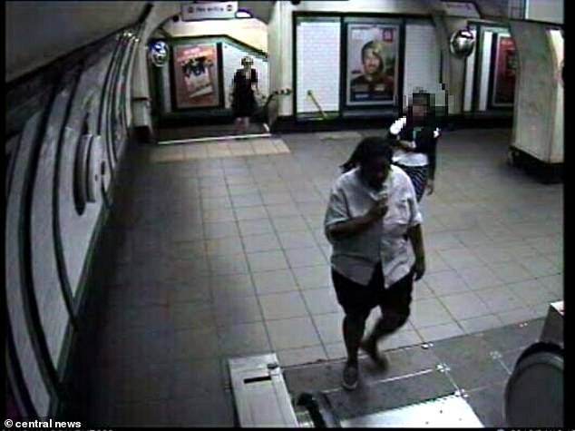 Yannick Glaudin, 31, stalked the man and his then boyfriend. (Glaudin seen here on cctv on the London underground)