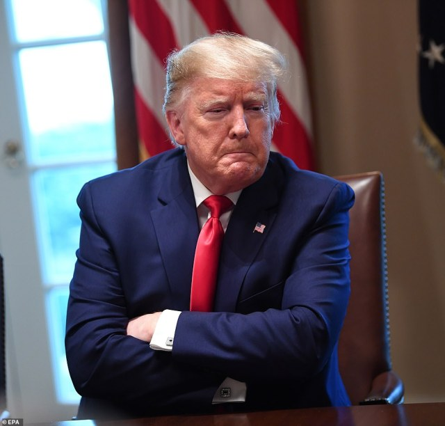 Demand: Donald Trump used the White House summit to say he 'liked the sound of month' and was warned by Dr. Tony Fauci that it would take a year