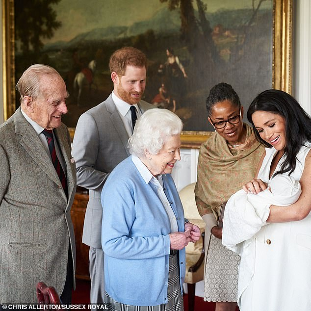The source added the monarch is reportedly 'very upset' about Meghan and Harry's decision to leave royal duties and 'would love to see more' of her nine-month-old great-grandson Archie