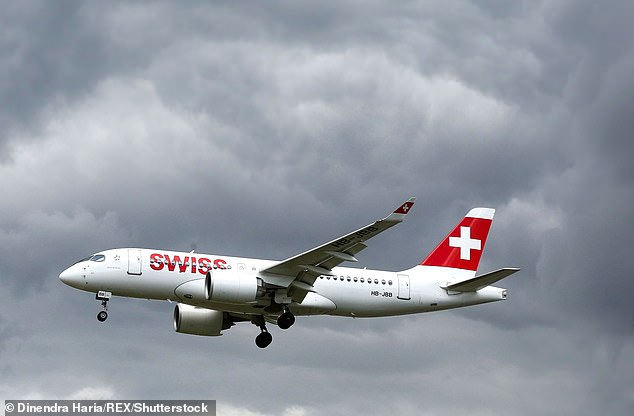 Mitaiare, 23, and her mother Mary Roberts, 53, flew with Swiss Air (pictured) from Zurich to London Heathrow on May 2 last year