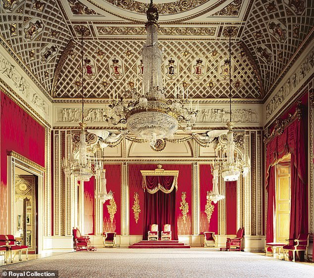 Andrew allegedly let Caprice into the Throne Room at Buckingham Palace where the monarch's Chair of State and the Coronation chairs of her father King George VI, Queen Mary and Queen Victoria, are kept