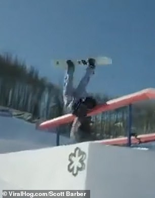 Macarena Valle crashed after missing a metal rail at the Burton US Open 2020
