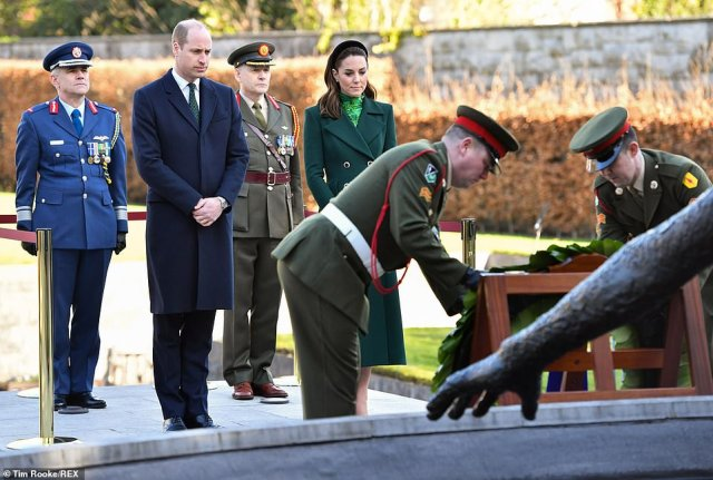 William and Catherine Duchess of Cambridge lay a wreath at the Garden of Remembrance in Dublin Prince William and Catherine Duchess of Cambridge visit to Ireland