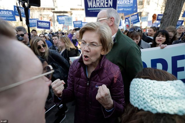 Elizabeth Warren greets supporters as she walks home from casting a vote for herself for president of the United States on 'Super Tuesday' in Cambridge, Massachusetts.Since the last time voters went to the polls, the Democratic race has drastically changed and Warren is trying to keep her campaign alive