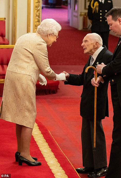 The Queen withHarry Billinge MBE today