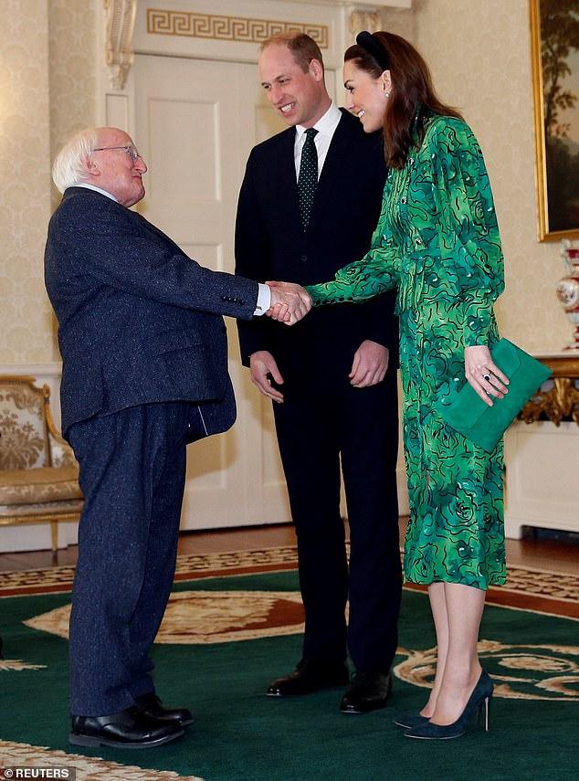 The Duke and Duchess of Cambridge will carry on shaking hands during their three-day tour of Ireland despite coronavirus threat
