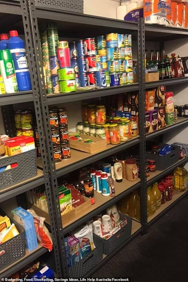 There is every variety of bean imaginable, peas, pasta sauces, pickles, Dorito chips, as well as hundreds of cleaning products for use in the shower and around the house