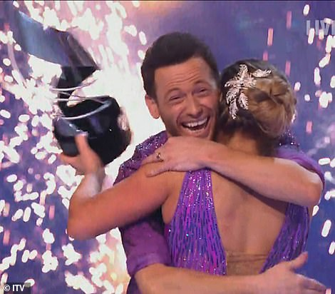 Victory! The presenter, 38, and the pro figure-skater, 29, were announced as the series champions on Sunday night