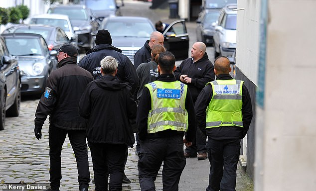 Yesterday a team of burly bailiffs descended on his Belgravia villa, accompanied by security guards, dogs and locksmiths