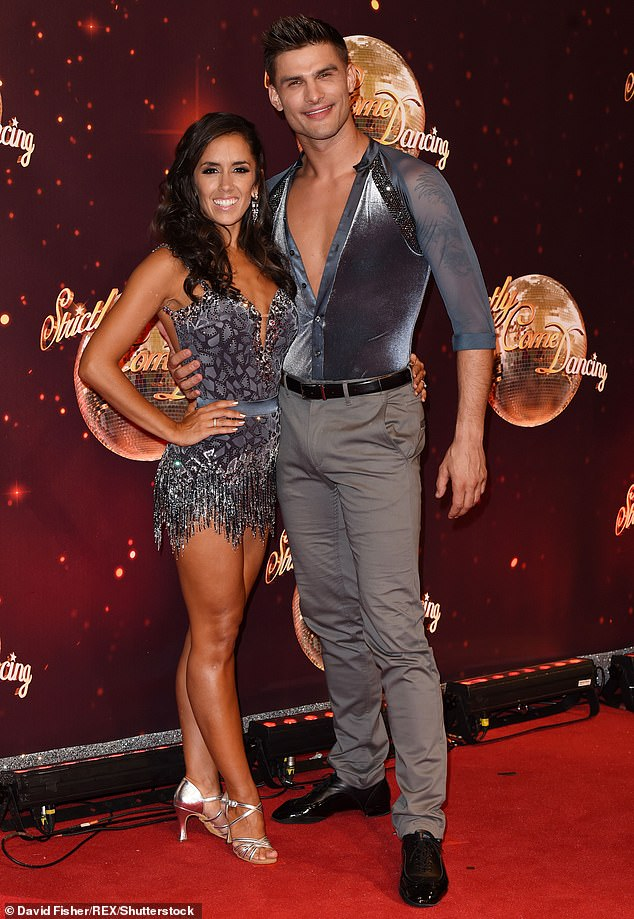 Dancing duo:Janette Manrara is Aljaz's wife and fellow professional dancer on the show (pictured together on Strictly in 2016)