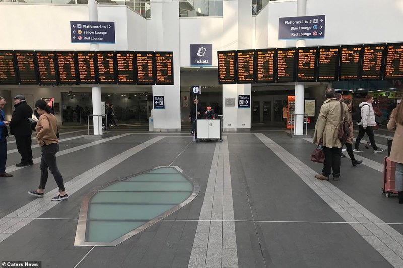 Birmingham New Street is usually teeming with people but today it was far quieter than usual