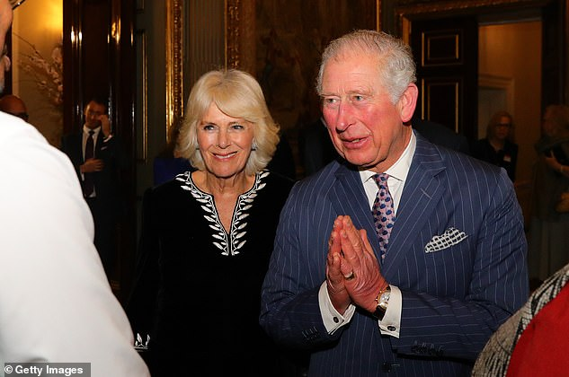 Camilla, Duchess of Cornwall, and Prince Charles, Prince of Wales attend the Commonwealth Day reception on March 9