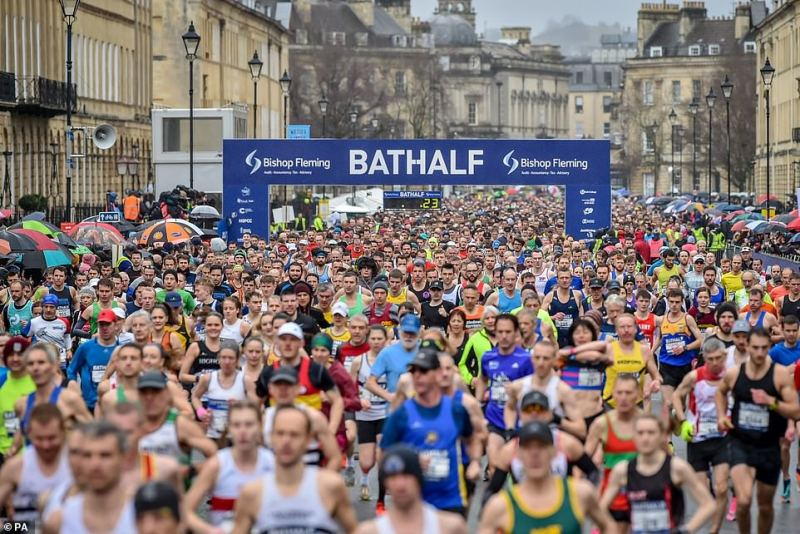 In the south of the country, Bath Half, the city's half marathon also went ahead on Sunday with around 12,000 participants