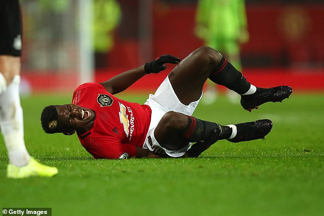 Manchester United's Paul Pogba last played on Boxing Day and recovered following an ankle surgery, but the French midfielder was closing on return
