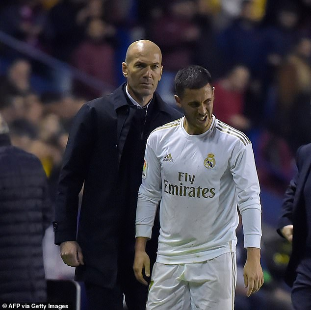 Eden Hazard of Real Madrid suffered an ankle fracture during the game against Levante