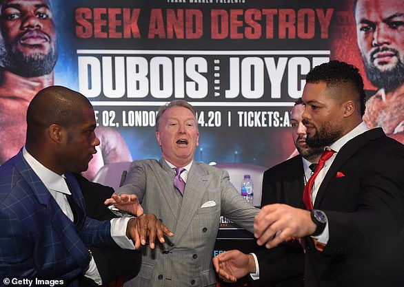 Daniel Dubois and Joe Joyce's Battle of Britain postponed from April to July