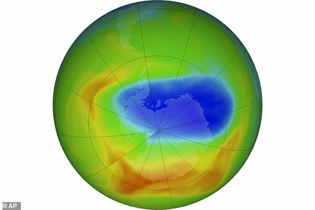 CFCs were banned worldwide in 2000 after they were linked to the growing hole in the ozone layer over Antartica