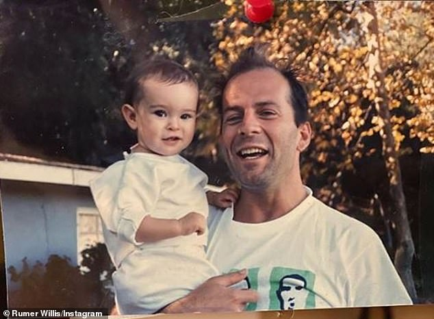 Homage to love: Rumer, 31, also visited Instagram to share a photo back to pay homage to his father on the occasion of his 65th birthday.