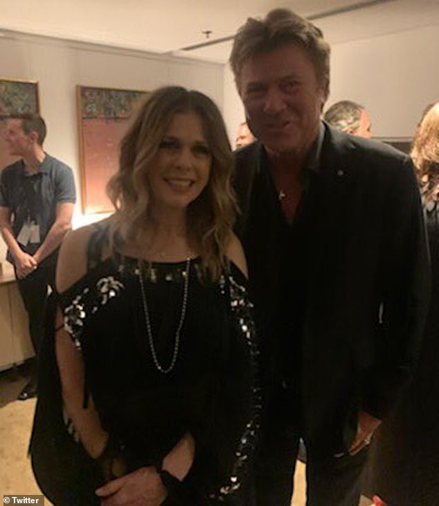 Famous friends: While it's impossible to know with 100 per cent certainty where Richard caught the virus, he did 'briefly' meet singer Rita Wilson (left) backstage at her Sydney Opera House concert on March 7