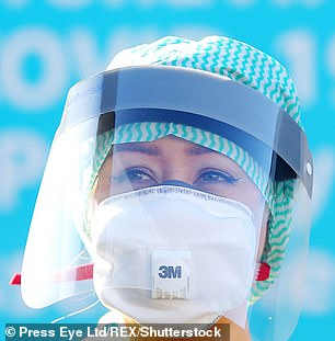 The BMA said:'We are hearing of staff trying to buy masks from DIY stores in desperation because they are not being provided with it by their employers. This is unacceptable.' (stock image)