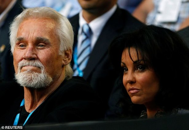 Dynamic duo: Rogers pictured with wife Wanda in Melbourne, Australia back in January 2011
