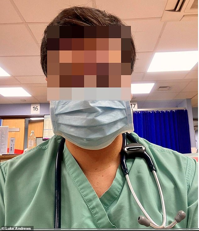 A doctor on shift at Princess Alexandra hospital in Essex was given a paper face mask to wear