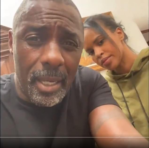 Celebrities such as Idris Elba, pictured here with his wife Sabina, revealed he has been infected with coronavirus after receiving a test. Some experts have criticised the British government over their failure to extend coronvirus testing to all people who are symptomatic