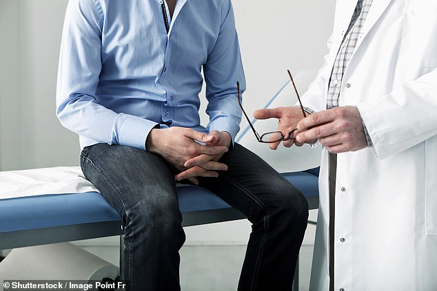 Scientists have found using a radioactive molecule which sticks to prostate cancer cells and lights them up in a scan is 27 per cent more accurate than the methods which are routinely used (stock image)