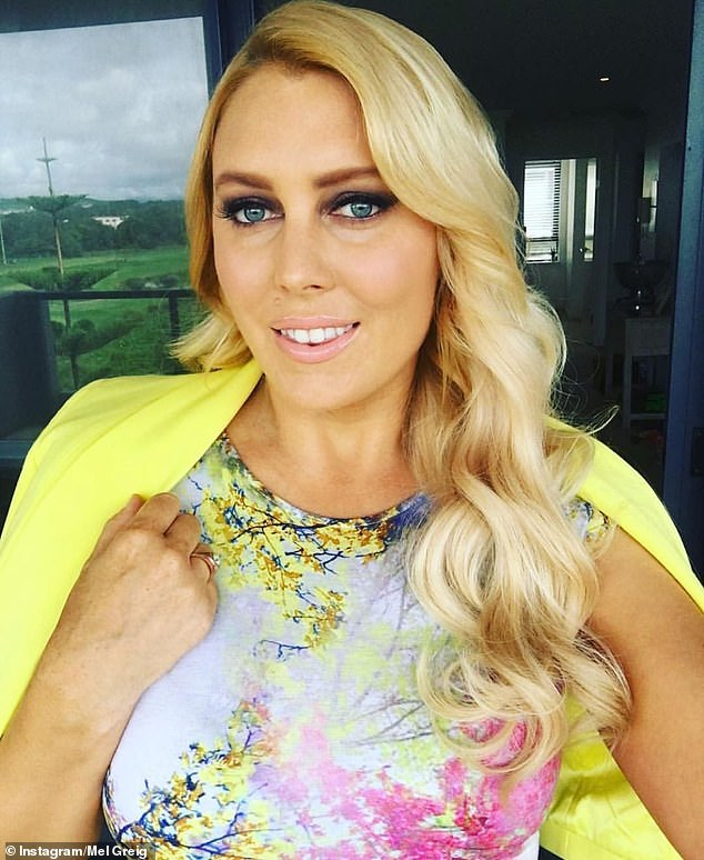Health: Mel cut out the carbs and booze in an effort to transform her body two years ago, after piling on the kilos while working in breakfast radio
