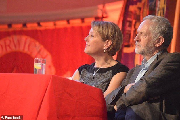 Joanne Rust pictured here next to Labour leader Jeremy Corbyn at a conference