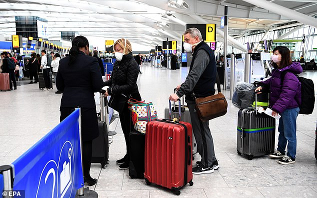 In an announcement today, Mr Raab said: 'We are strongly urging UK travellers overseas to return home now where and while there are still commercial routes to do so'