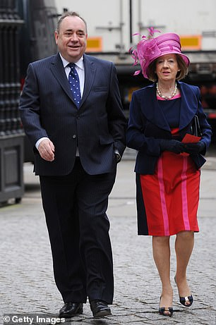Alex Salmond (pictured above with wife Moira in 2012) said his 'nightmare' was over yesterday after he was dramatically cleared of sexually assaulting a string of women