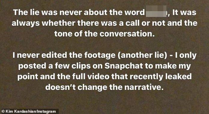 Respuesta: Kim aclaró su opinión sobre el tema y cómo sintió que las acciones que ella y West tomaron fueron éticas