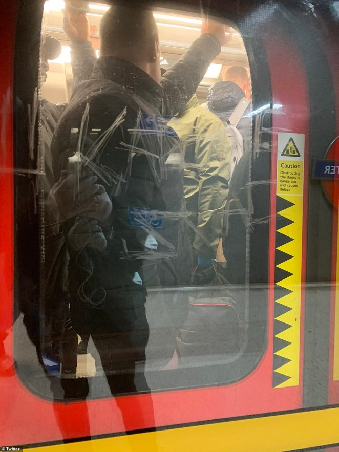 Travellers on the Jubilee Line were in eachother's faces and armpits despite being warned to stay two metres apart