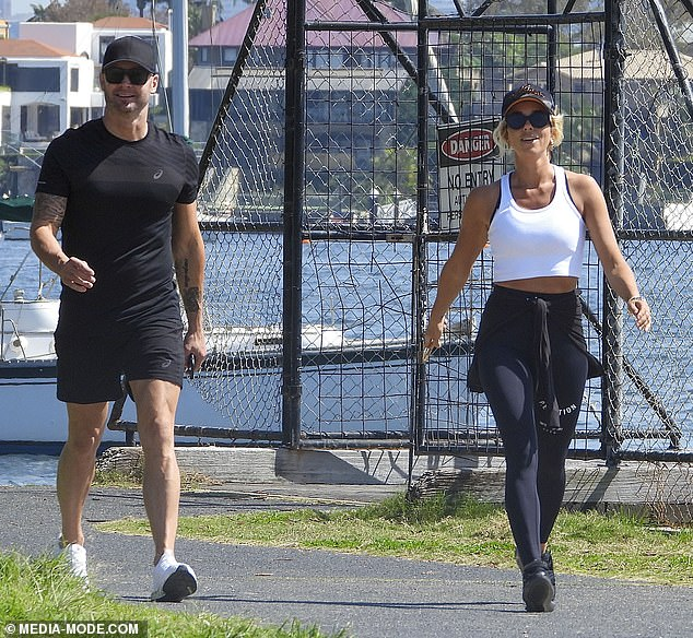 In sync:They both dressed in stylish gymwear, which isn't surprising given their healthy and active lifestyles