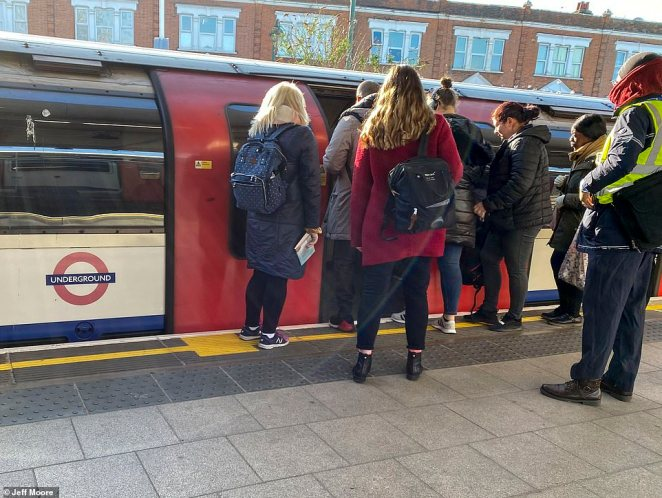 London's commuters continue to keep going to work after a huge number of the workforce were designated key workers by the PM
