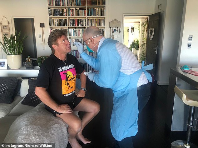 'I just want to get out of here' Richard Wilkins, 65, (pictured) has spoken of his upset at testing positive for Coronavirus a THIRD time while speaking to Nova's Fitzy and Wippa on Wednesday
