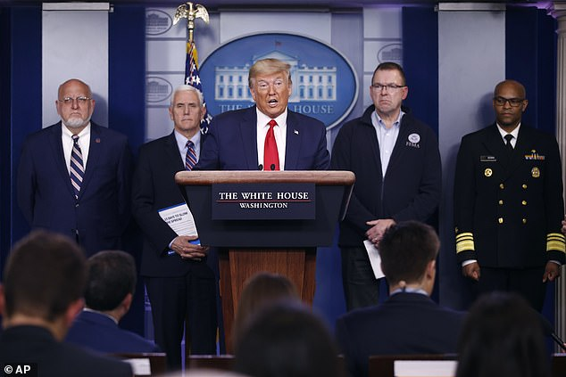 Fauci was also missing from the briefing on Sunday President Donald Trump spoke with Dr. Robert Redfield, director of the Centers for Disease Control and Prevention, Vice President Mike Pence, FEMA administrator Peter Gaynor and U.S. Surgeon General Jerome Adams