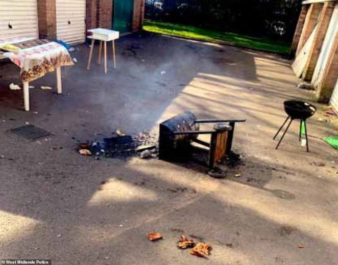 West Midlands Police had to step in to disperse a large group of people having a barbecue in the Foleshill area of Coventry