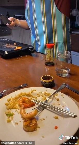 Derek's third dinner, according to Cait, was 'his best yet'