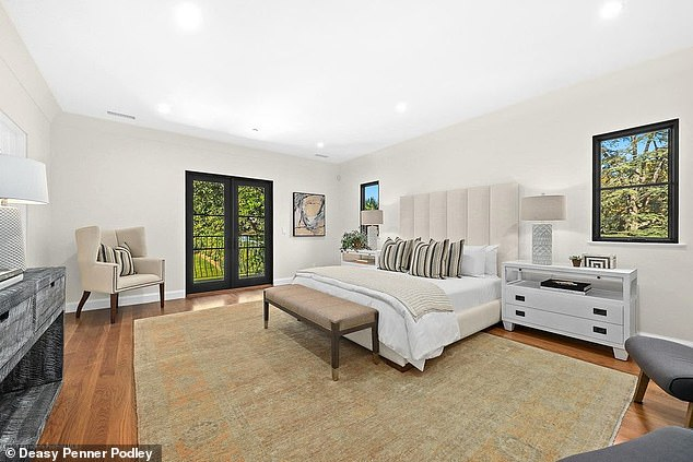 Sweet dreams: The home boasts four bedrooms and four and a half bathrooms