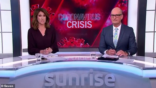 How coronavirus could DESTROY the Australian TV industry: Production shutdowns and lay-offs mean the 2020 schedule will look very different. Pictured: Seven's Sunrise