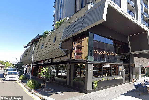 Louis Le Pape was parked in an unloading zone outside the french restaurant Montrachet in Brisbane (pictured) on Monday afternoon when parking wardens approached