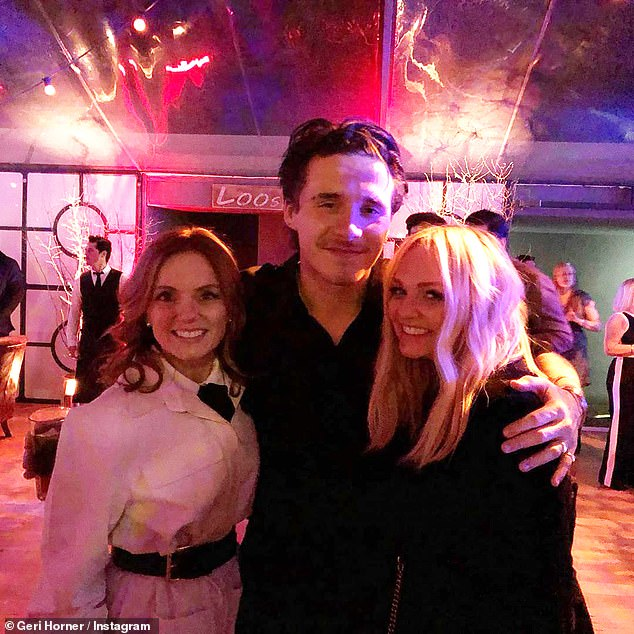 Friendship never ends:Victoria is still close with the girls - Emma and Geri seen recently at her and David's son Brooklyn's 21st birthday party