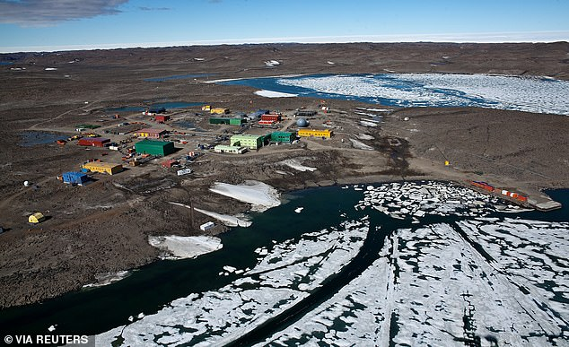 An aerial view of the Davis research station is pictured where temperatures reach -49 degrees in Winter. (March 25, 2020)