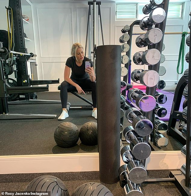 'I can't help my team': Roxy Jacenko's (pictured) Sweaty Betty PR 'empire' has tumbled while she is in self-isolation after her trip to New Zealand