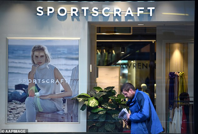 The APG&CO group that manages brands like JAG and Sportscraft (pictured) has been the latest Australian retailer forced to close its stores amid the COVID-19 pandemic